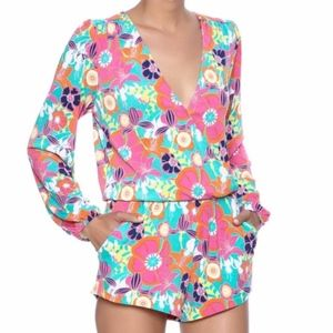 Macbeth Collection Floral Romper NWT Size Small